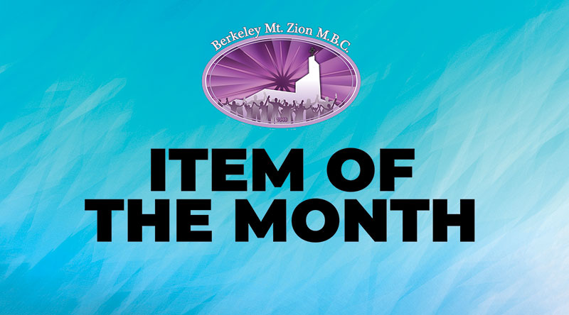 Item of the Month: May 2019